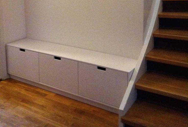 platsbyggd bänk med förvaring måttanpassad moderskeppet stockholm