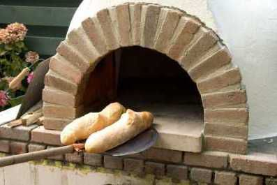 French baguette made in an original Italian wood fired Fornino pizza oven