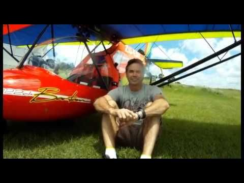 Tyrone Whitefield Flying his Bantam microlight Solo