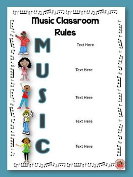 MUSIC CLASS RULES: EDITABLE POSTERS - TeachersPayTeachers.com