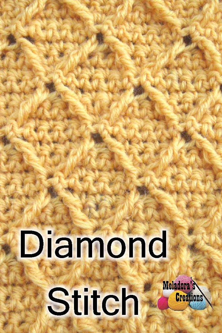 Learn how to do the Diamond crochet Stitch using pictures and video tutorials.
