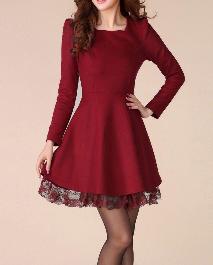 moda coreana vestidos elegantes - Buscar con Google