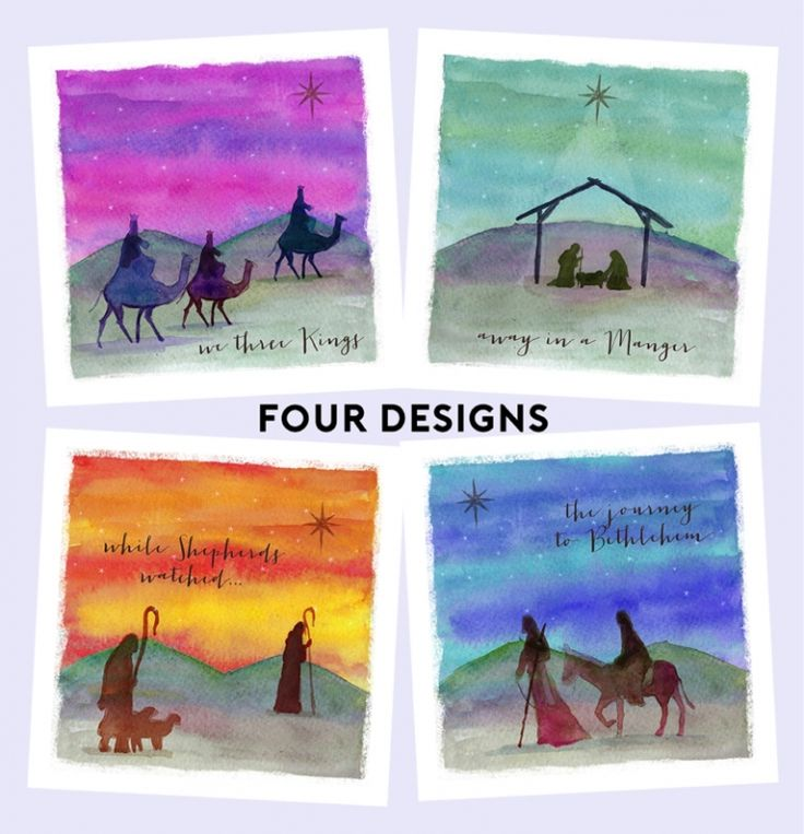 Watercolour Scenes Tearfund Charity Christmas Cards