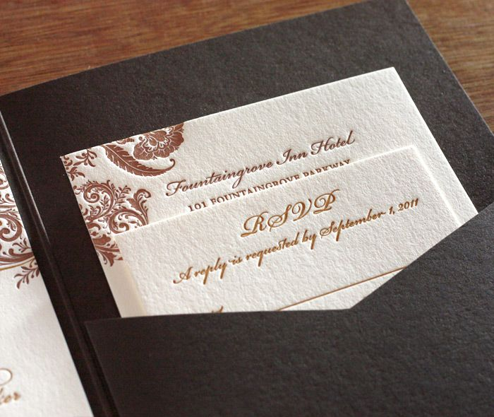 I'm in love with this floral letterpress wedding pocket folder invitation by invitations by ajalon http://invitationsbyajalon.com/gallery/allison.html
