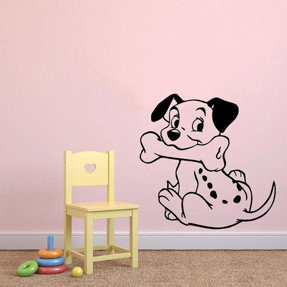 Parete decalcomania cane vinile adesivo decalcomanie Nursery Baby camera bambini ragazzi ragazze Home Decor Camera Art Design interni NS484