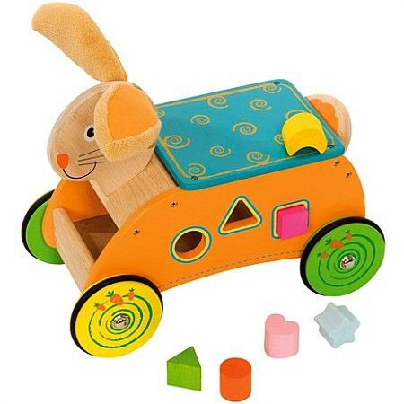 Wesoły królik z sorterem 7 elementów Bigjigs Toys | ZABAWKI \ Pojazdy dla dzieci, bujaki \ Jeździki NA PREZENT \ Prezent uniwersalny Bigjigs Toys \ Bigjigs Toys | Hoplik.pl wyjątkowe zabawki