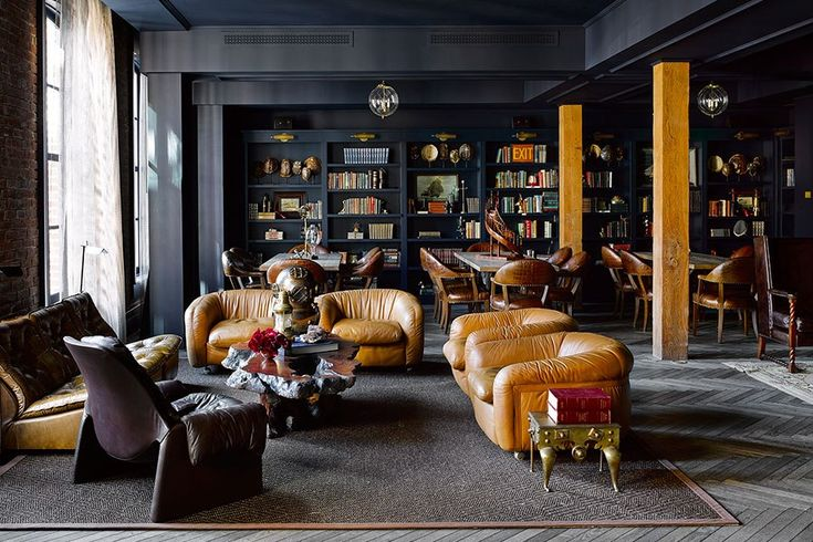 Ken Fulk brings his exuberant eye to the design of San Francisco's the Battery. The private club was opened last year by Michael and Xochi Birch, founders of the social network Bebo, which sold to AOL in 2008 for $850 million. The five-level, 58,000-square-foot club features several bars, 717b restaurant, a spa and gym, 14 hotel rooms, and a luxurious penthouse suite complete with Viking appliances and a terrace with views of the Bay Bridge.