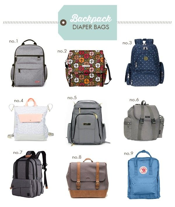 The best stylish backpack style diaper bags.