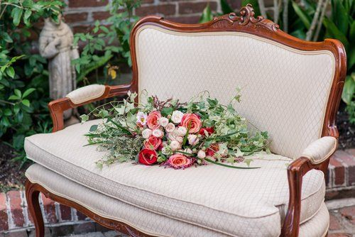 Katherine Settee - The French Eclectic Vintage Rentals - Charleston SC