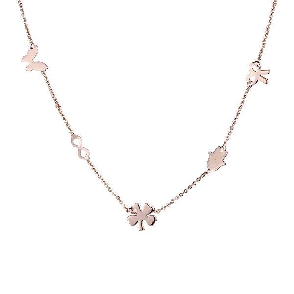 Şans Kolyesi #kolye #şanskolye #çoklu #moda #trend #kadın #takı #yonca #sonsuzluk #fiyonk #kelebek #hamsa #clover #infinity #necklace #bow #women #accessory #butterfly #classy #elegant #dressy #lucknecklace