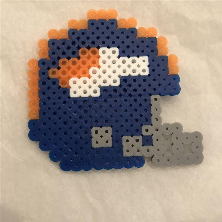 Denver broncos football helmet perler beads perler bead