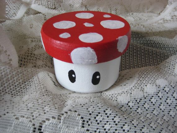 Vintage Nintendo Ring Bearer Box/ Mario Mushroom/Gamer Wedding Geek Wedding or Alternative Wedding Can BePersonalized for Bride and Groom