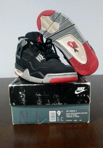 Details about Vintage OG 1999 Retro Nike Air Jordan IV Black  Red ... 5abf0ba60