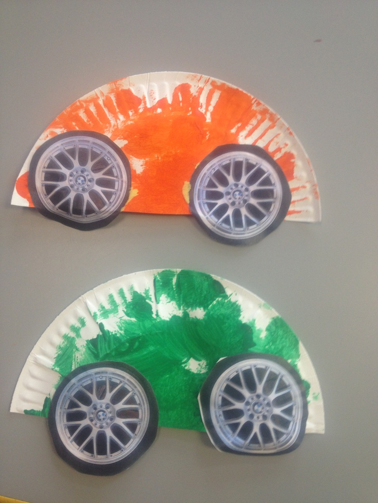 Paper plate cars