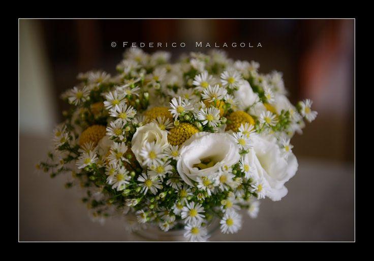 bouquet sposa lisianthus settembrino e craspedia