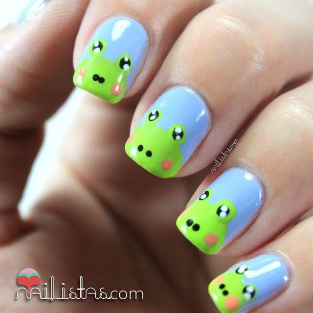 Frogs Nail Art Uñas decoradas con ranas | Nail art de animales