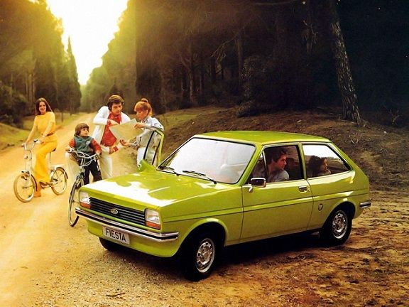 Ford Fiesta (1976 – 1983). Had one similar to this one, good car. Very small. A lady pulled in front of me and I smashed up the whole front end. It was tan colored.
