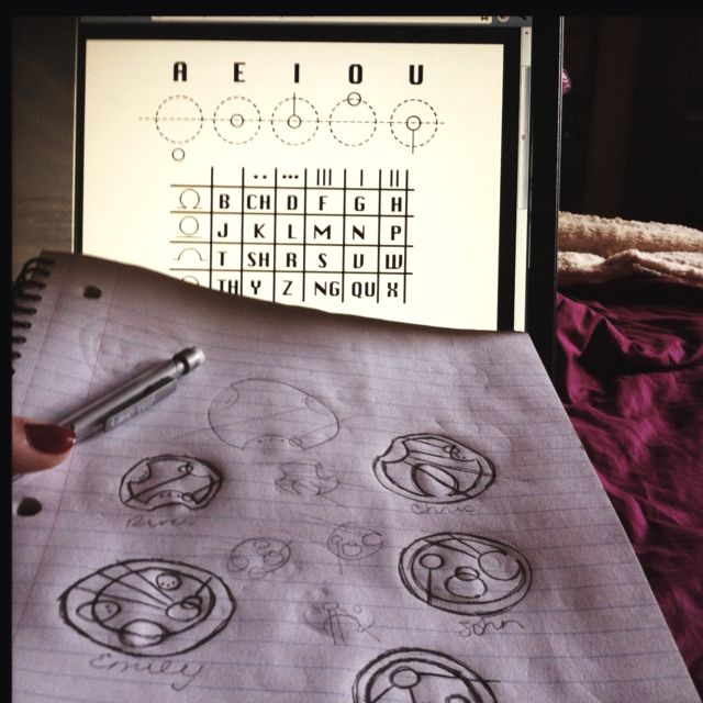 how to write Gallifreyan