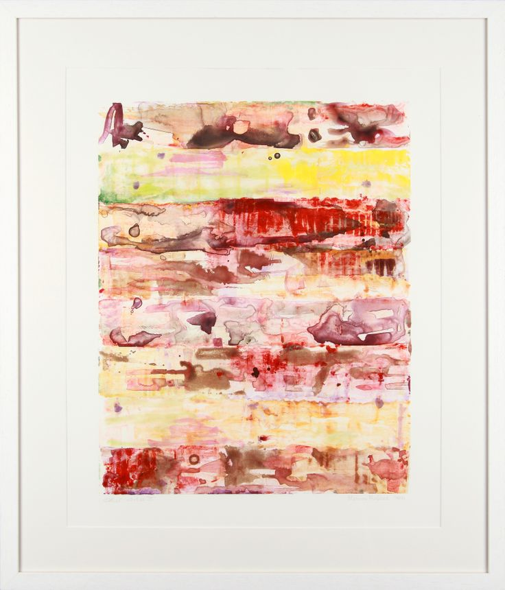Monroe Hodder | Other Worlds III | Watercolour & Oil Monotype | 30 x 25 inches | £2,500