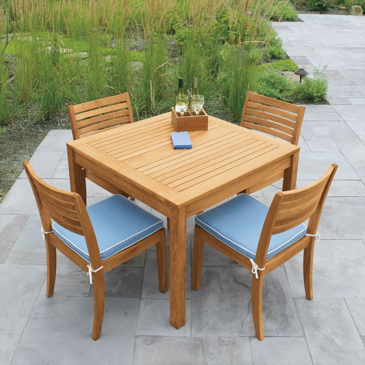 Teak Outdoor Side Chair Designed For Comfort And Easily Stackable For Convenient Storage