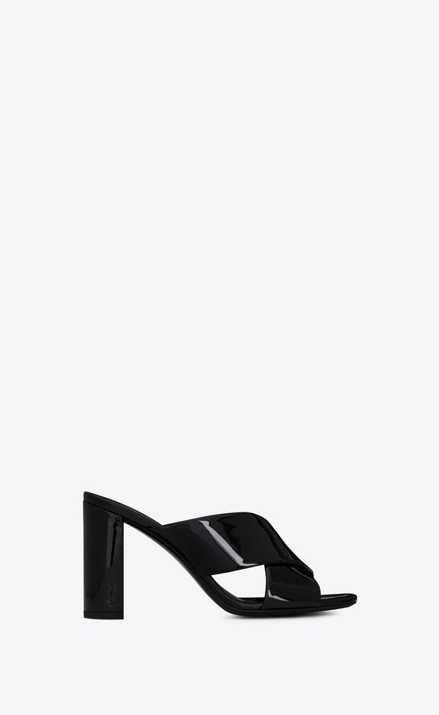 0e1cc10585 SAINT LAURENT Loulou Woman LOULOU 95 slipper in black patent leather ...