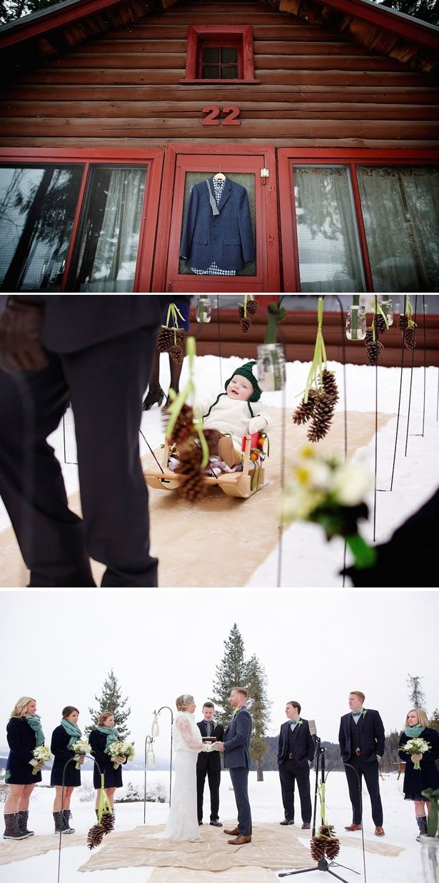Andrea + Gregory: Snowy Outdoor Winter Wedding in Idaho by Jerome Pollos Photography