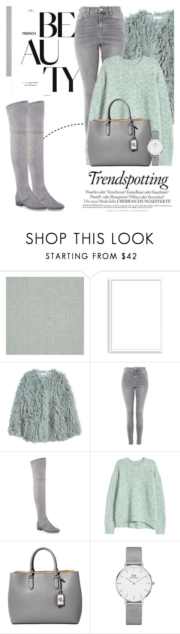 """""""Winter Chic..."""" by glamorous09 ❤ liked on Polyvore featuring Bomedo, H&M, Topshop, Marc Fisher, Melissa, Lauren Ralph Lauren and Daniel Wellington"""