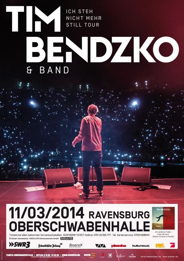 TimBendzko Oberschwabenhalle Ravensburg Bodensee Konzert Unterdiehaut