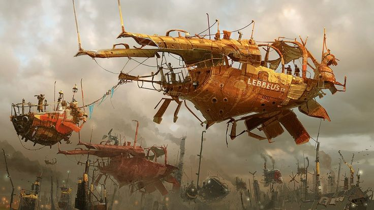 """Ian McQuee - """"Concept airships"""""""
