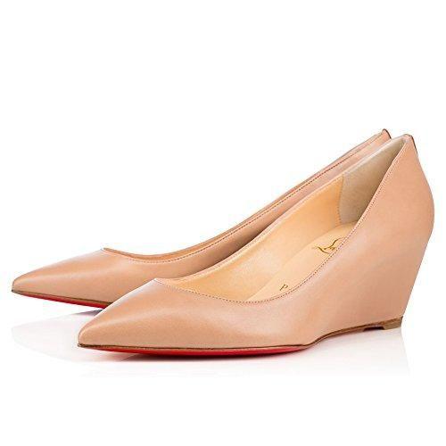 Oferta: 55.14€. Comprar Ofertas de LOUBOUTIN SHOES - Zapatos de vestir de Piel para mujer, color Beige, talla 38 EU barato. ¡Mira las ofertas!
