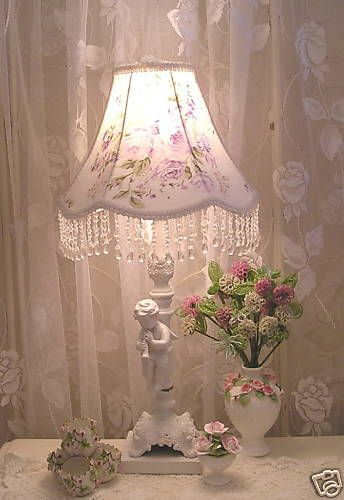 Gorgeous #lavender Roses Beaded #lamp #shade  orders at www shabbyshades.com.on Ebay