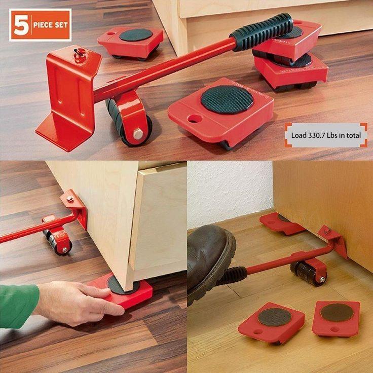 Amenitee Furniture Lifter Movers Tool Set 4 Packs Con Im 225 Genes Ruedas Para Muebles Mover