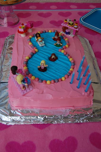 Lego Friends Pool Party Cake :)