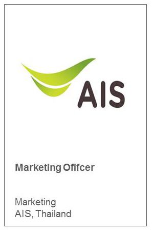 Marketing Ofifcer Marketing AIS, Thailand