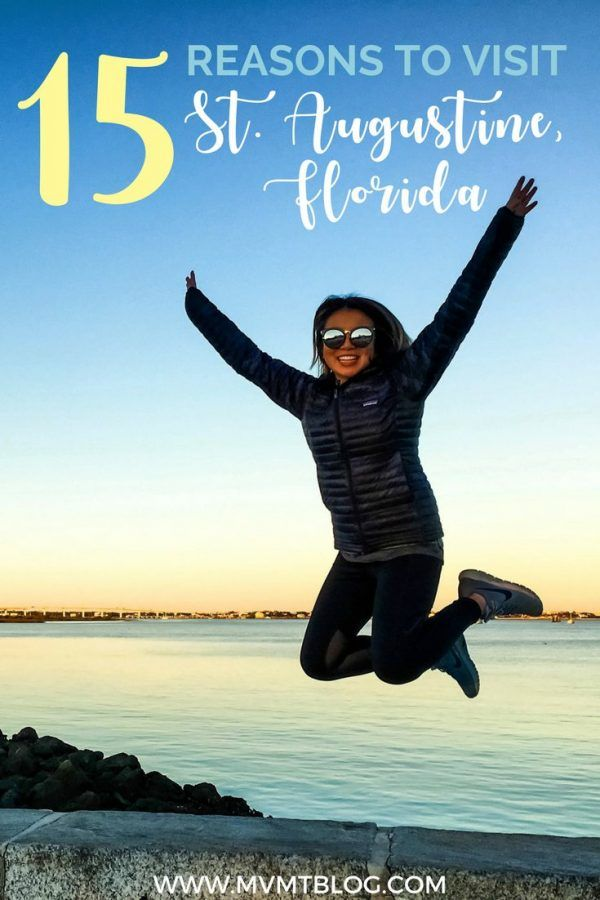 15 Reasons to Visit St. Augustine, Florida: The Oldest City in the United States - the mixture of Spanish, Caribbean, and lazy beach town vibes here makes St. Augustine truly unique. In the oldest city in America you can also find the oldest house, oldest school house, oldest street, and much more! Take trolley rides throughout the city or rent a scooter and scoot your way across town! Click through now to find out why you've got to make St. Augustine your next travel destination!