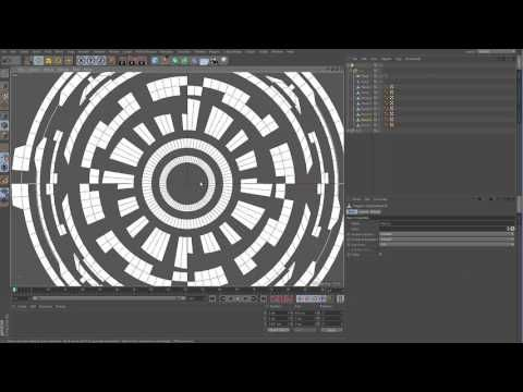 Cinema 4d Sci Fi circles UI tutorial - YouTube