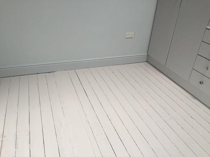 Painted Original Wood Floor As It Has A Concrete Section Little Greene Paintingpaint Colourswood