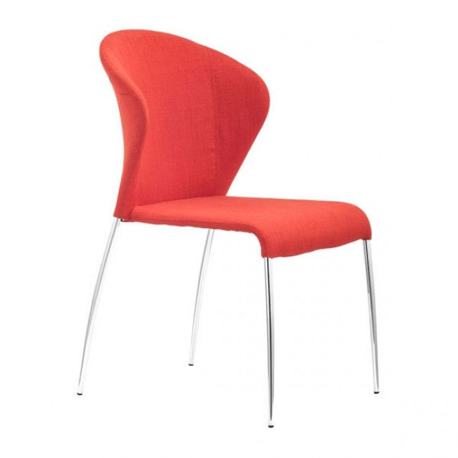 Zuo Oulu Dining Chair Tangerine 100041 Dining Chairs Outdoor