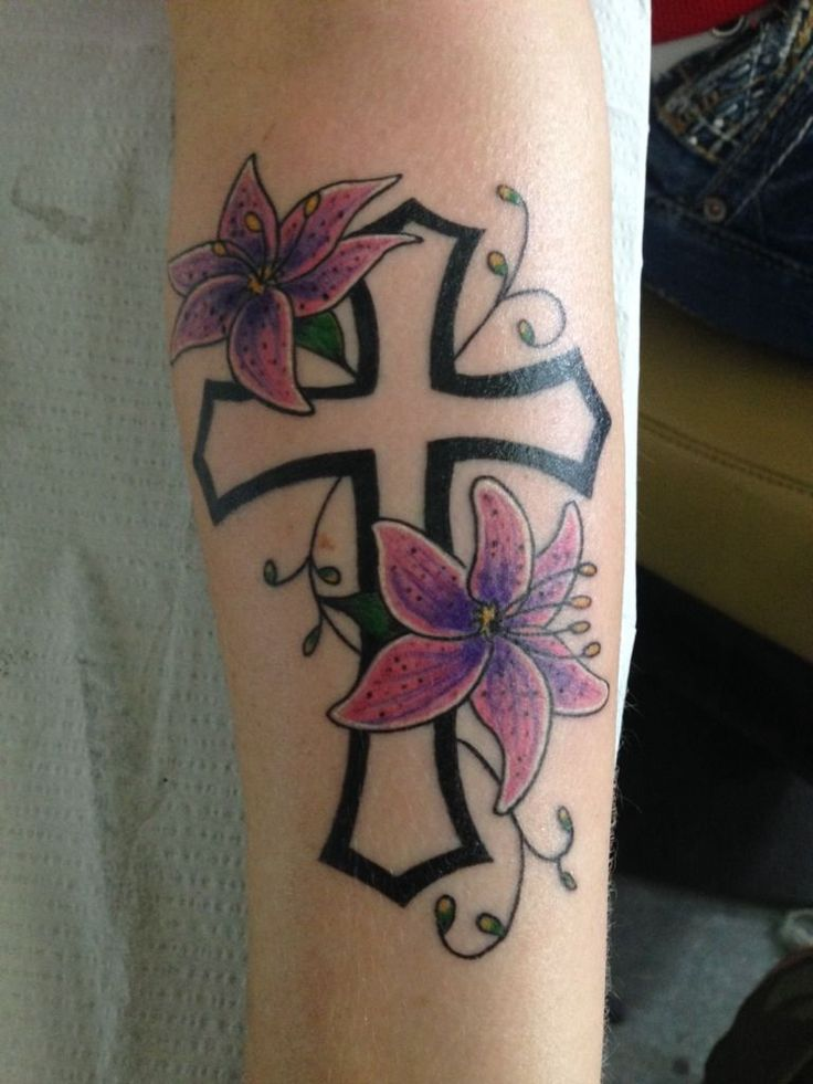 klunk:religious-cross-cross-with-flowers-cross-tattoo-flower ...
