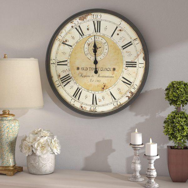 Fleur De Lis Living Oversized 32 Wall Clock