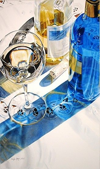 Riesling - watercolor by ©Cindy Agan http://cindyaganart.com/workszoom/1084663