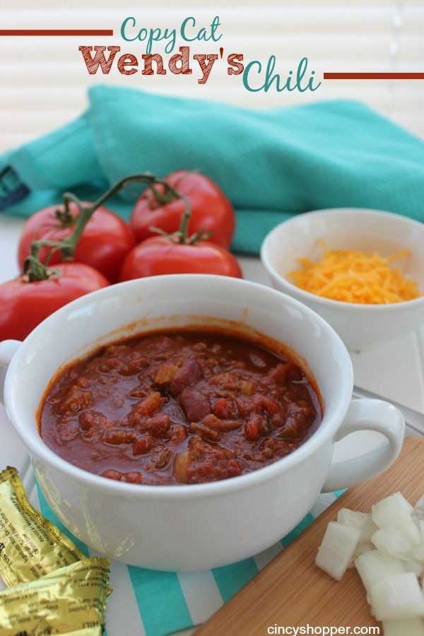 wendy s chili revisited My best friends brother-n-law worked for wendys fast food chain for several years , she gave me this recipe when she found out how much i love their chili.