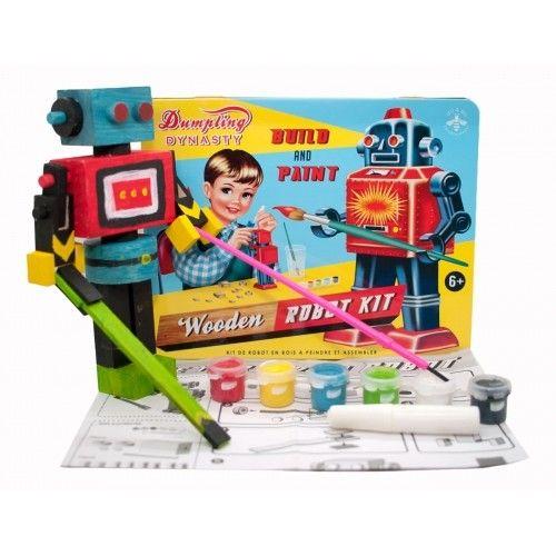 Wu & Wu stoer jongensblik met een kit om zelf een robot te maken! Een zeer welkom verjaardagscadeau voor jongens die van handenarbeid houden