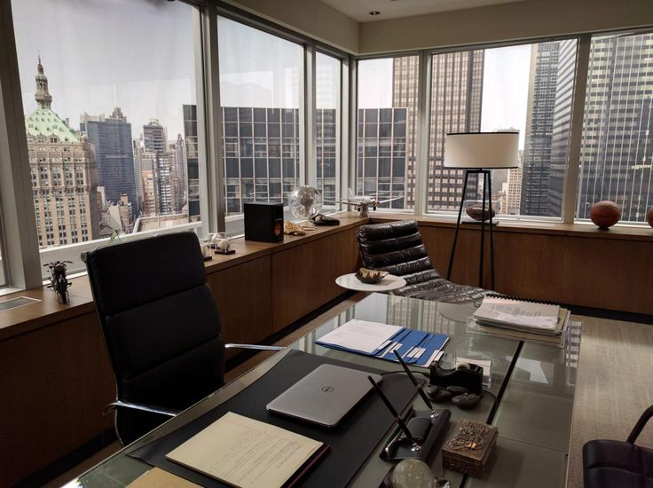 Harvey Specter's office in 'Suits'. 'Lawfully His' features its own fictional law firm, Cavendish King, and Evan King's office probably wouldn't be dissimilar to this one...