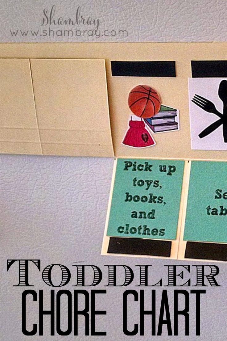 Great way to have an interactive chore chart for toddlers.  Chore ideas included.