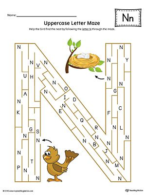 uppercase letter n maze worksheet color worksheets maze worksheet letter maze letter n. Black Bedroom Furniture Sets. Home Design Ideas