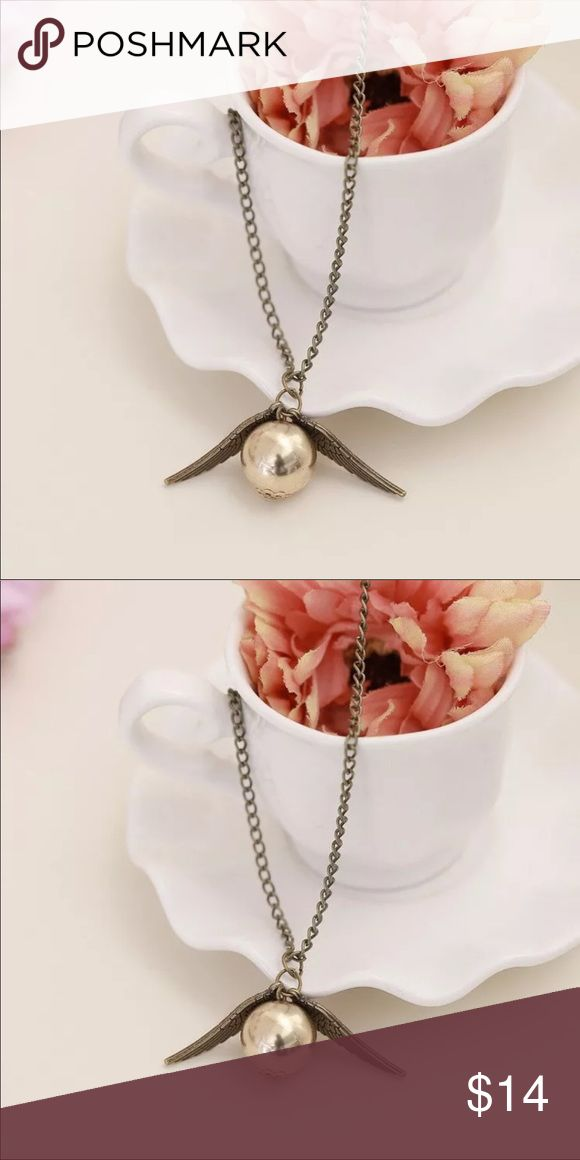 Harry Potter & the Deadly Hollow Snitch Necklace Material: Alloy   Who Loves Harry Potter?   Perfect for you & as a gift C.G.V Jewelry & Accesories Jewelry Necklaces
