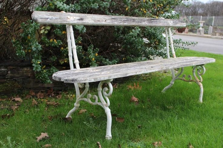 Antique French park bench