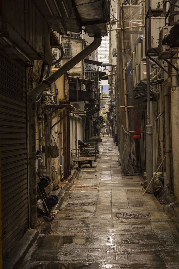 Alley on Kowloon side, Hong Kong