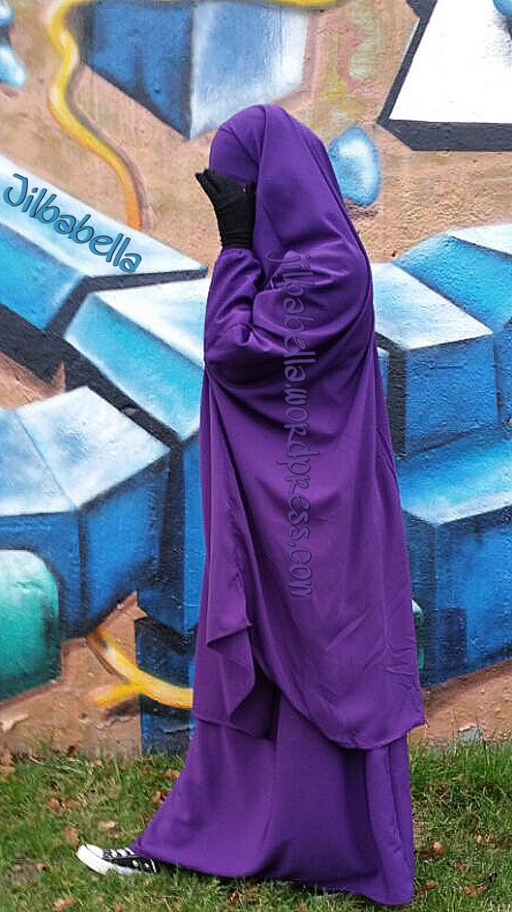 Purpel Jilbab by Tasnim Collections